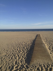 Der endlose Sandstrand