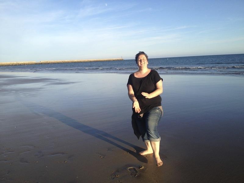Sabine am Strand