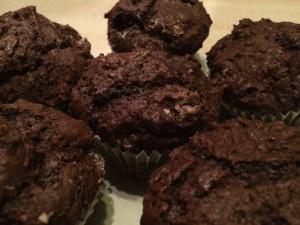 vegane Schoko-Kirsch-Muffins