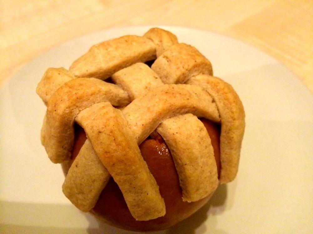 Bratapfel Mit Keks Gitter Leckeres In Vegan