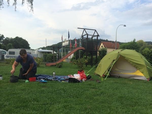 Auf dem Campingplatz in Hann. Münden