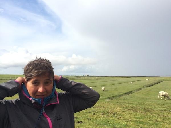 Sabine - auch beim miesteten Regen bester Laune :-)