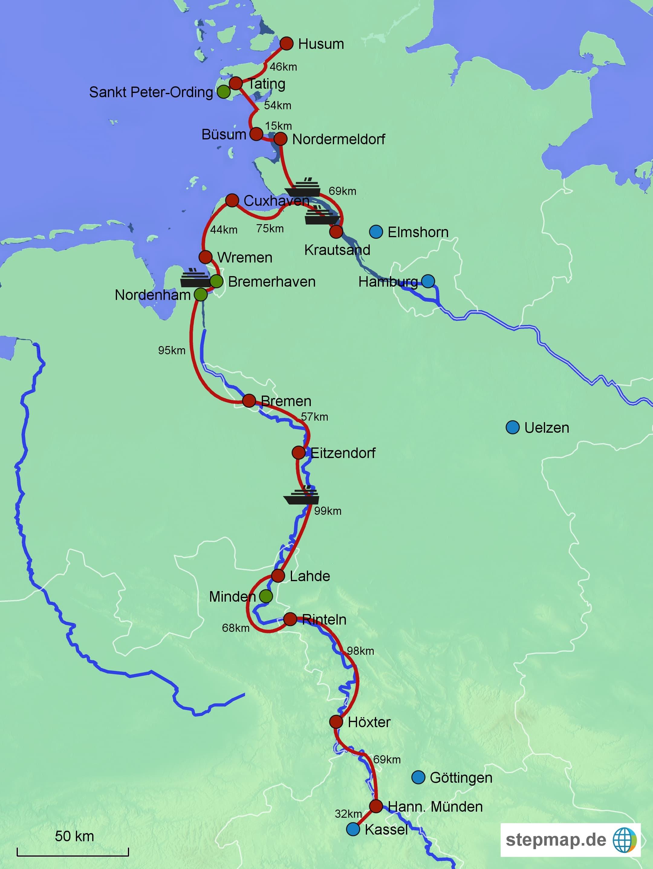 Vegan mit dem Fahrrad ans Meer: 850km Glück auf Weserradweg und Nordseeradweg