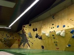 """Eine Wand in """"unserer"""" Boulderhalle, dem Studio Bloc in Pfungstadt"""