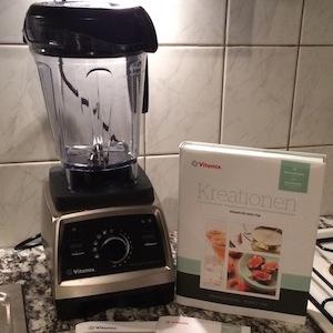 So sieht der Vitamix Professional Series 750 in unserer Küche aus