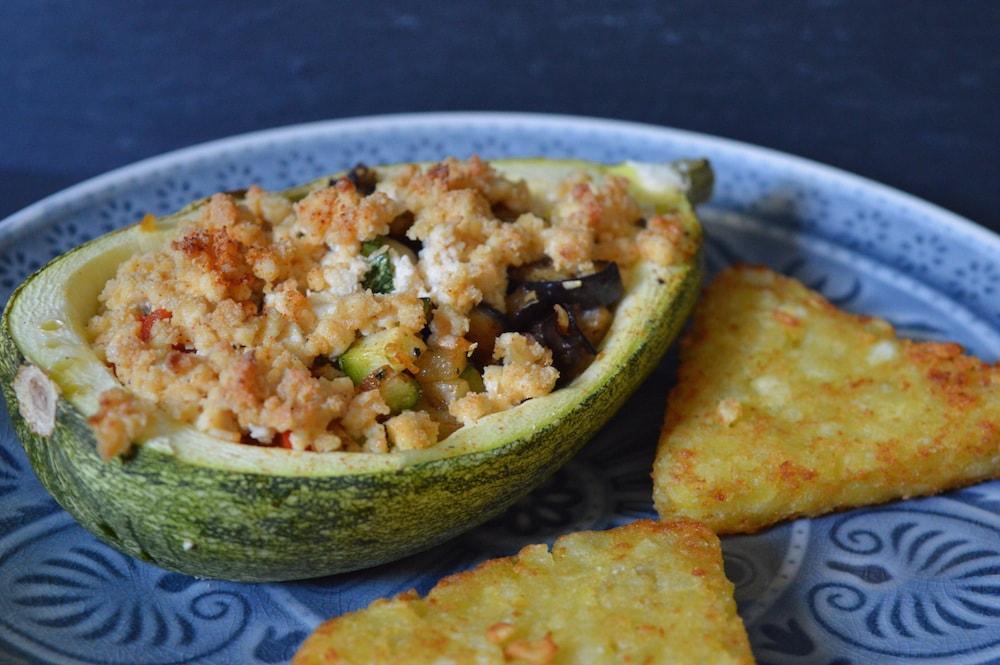 Dreierlei gef llte zucchini leckeres in vegan - L ei weich kochen ...