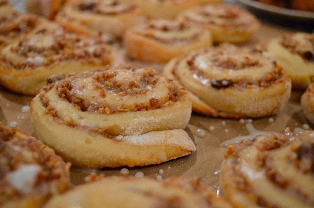 Zimtschnecken mit Bratapfel-Note