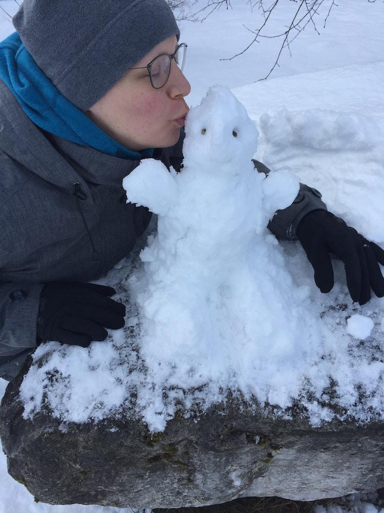 Schneemännchen bauen