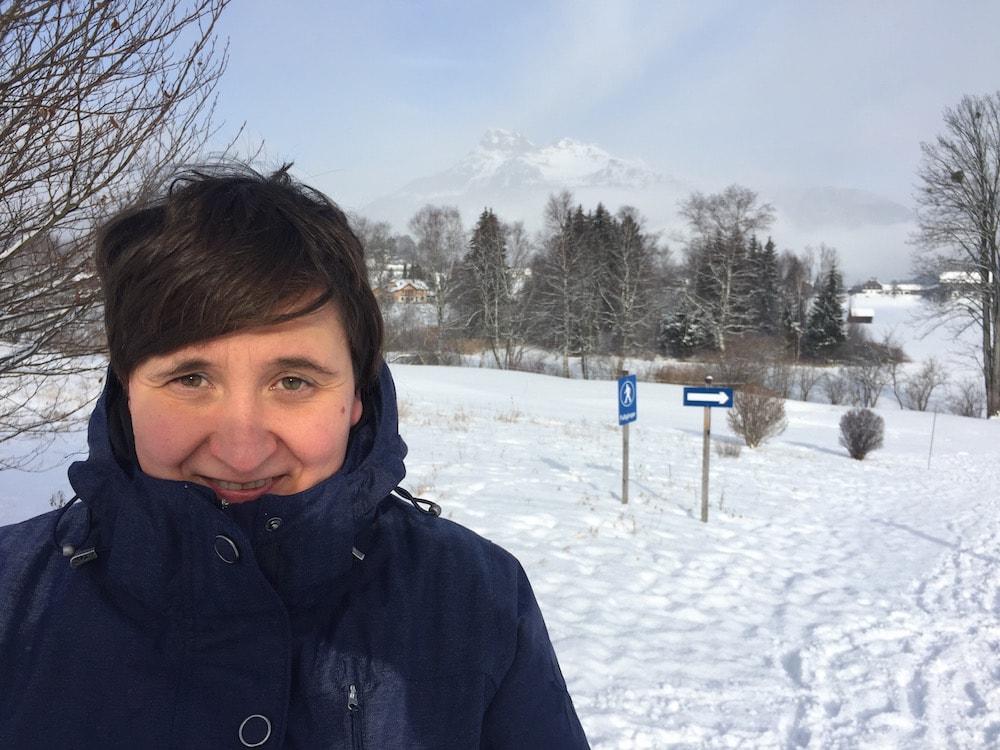 Spazierengehen im Schnee