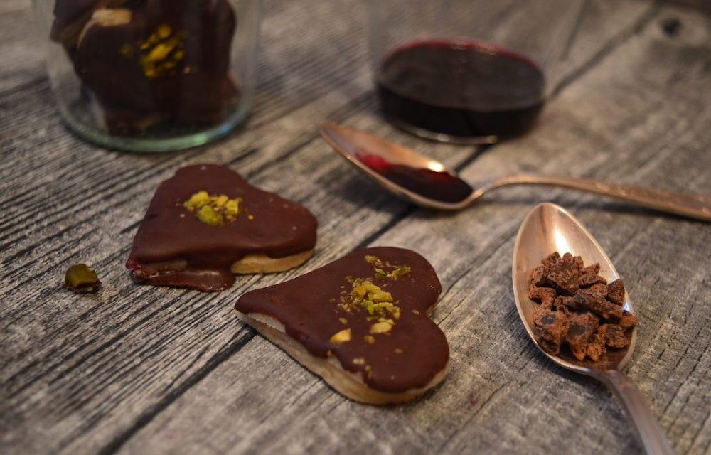 Marzipan-Trauben-Herzen