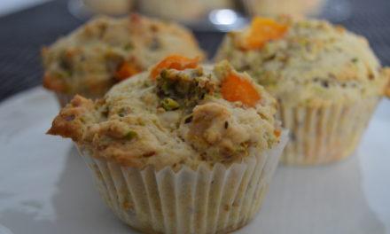 Aprikosen-Ingwer Muffins mit Pistazien